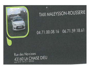 TAXI MALEYSSON ROUSSERIE
